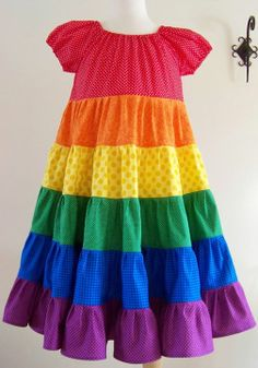 Pastel Rainbow Twirl Dress @My Kids Drawers https://www.facebook ...