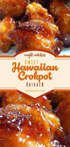 sweet hawaiian crockpot chicken recipe #weightwatchers #weight_watchers #WW #sweet #hawaiian #crockpot #chicken #recipe #yummy