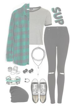 """""""Untitled #512"""" by alex-bows ❤ liked on Polyvore featuring Topshop, Madewell, Converse and Pieces"""