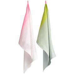 Hay kitchen towels. Gerne noget med turkis.. :-)  Google Image Result for http://www.finnishdesignshop.com/images/228Hay12_iso.jpg