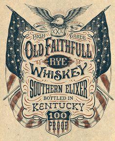 Vintage Americana graphics on Behance