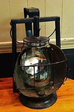 antique Railroad Dietz Acme Inspector lantern with lens globe