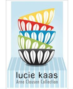 Lucie Kaas, Plakat m/Lotus-skåle Fountain City, House Wall, Vintage Love, Creations, Graphic Design, Retro, Collection, Wall Hangings, Ephemera
