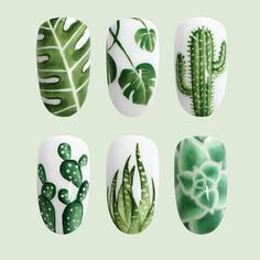 20 Cactus Nails Give Fresh Green Feel to Your Appearance
