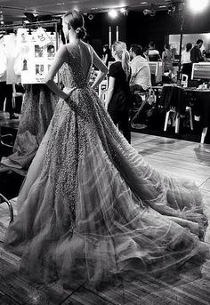 Backstage Haute Couture Elie Saab AW 2014