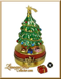 Christmas Tree with Presents Limoges Box (Beauchamp)