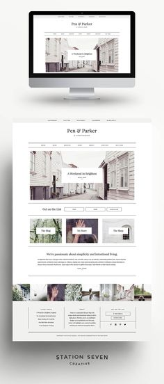 Say hello to Parker, a WordPress theme from Station Seven with unique details and intentional styling in all the right places. https://stnsvn.com #webdesign