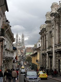 Ecuador's capital city of Quito - the second highest capital city in the world, and a UNESCO World Heritage area.