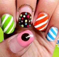 Candy Crush Nails!! :) by StaceyNailCandy - Nail Art Gallery nailartgallery.nailsmag.com by Nails Magazine www.nailsmag.com #nailart