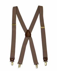 "Vintage 1 1/4"" Taupe Suspenders $15.00"