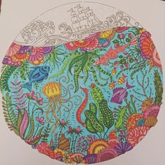 """Almost finished! #LostOcean #johannabasford #adultcoloring"""