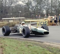 Brands Hatch, England, March 16, 1969. Jack Brabham at speed in         his No. 5 Brabham Racing Organization Brabham BT26A Ford         Cosworth V8 at the non-championship Formula 1 race at Brands         Hatch.