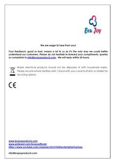 Bru Joy milk frother generation 2 user manual part 3. Buy it now from http://www.amazon.com/Bru-Joy-Stainless-2-0-Adjustable/dp/B00XH6D2YK