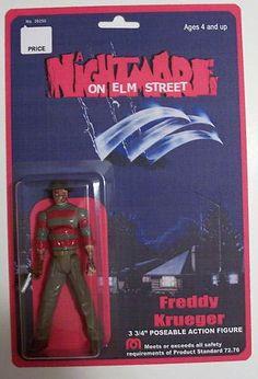 """Freddy"" from ""Nightmare on Elm Street"" movie custom action figure."