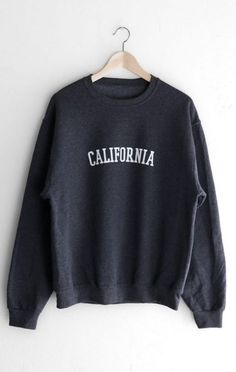 About California Sweatshirt DAPThis sweatshirt is Made To Order, we print the sweatshirt one by one so we can control the quality. Sweatshirt Outfit, Earl Sweatshirt, Hoodie Sweatshirts, Hoodies, Fashion Sweatshirts, California Sweater, Fitness Hose, Looks Cool, Direct To Garment Printer