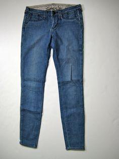 "STITCH'S Medium Blue Grass Skinny Leg ""Moccasin"" Denim Jean Size 27 #Stitchs #SkinnyStraight"