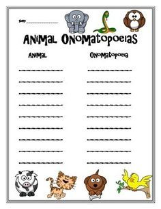 This is a fun way to introduce onomatopoeia's to your class!