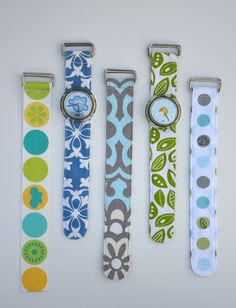 I love Ikat bag-- it always offers great ideas like this one!-- design your own watch band.