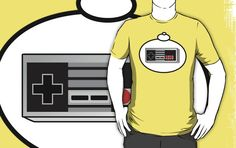 RETRO GAME CONTROLLER T-Shirt by Bubble-Tees.com