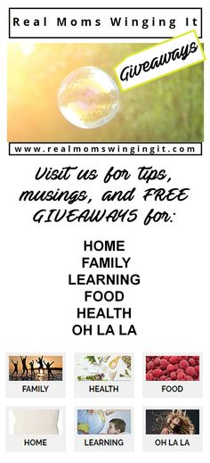 Free GIVEAWAYS for HOME, FAMILY, LEARNING, FOOD, HEALTH & OH LA LA