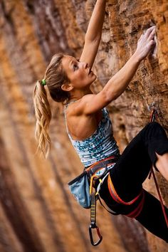 i dream of arms and shoulders like this!!! I love rock climbing...      This is me some day! theberry.com