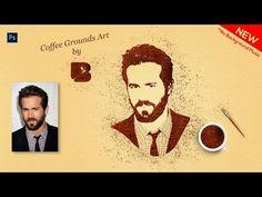 (4) Portrait Editing Photoshop : Coffee Ground Art Effect    Portrait into Easy Coffee Powder Art   - YouTube