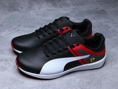 Latest and Cheapest Men PUMA Ferrari F116 Skin SF Trainers Black Red White 7d69775c6d147