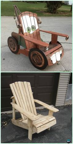 DIY Tow Mater Adirondack Chair Free Plan and Tutorial