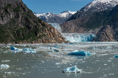 South Sawyer Glacier At the end of Tracy Arm fjord sits the beautiful South Sawyer glacier. We had wonderful weather this day.