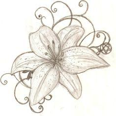 Tattoo Design: Kaylana's Lily by ~lguest on deviantART