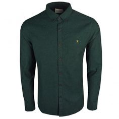 e7704080f8709 Buy Farah by Steen LS Shirt Green from our Shirts range - Green -   The Vault  Menswear