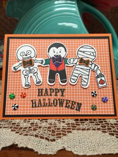 My new for 2016 Cookie Cutter Halloween Stamp and Punch Set! Adorable!