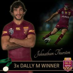 Dally M 2014 Tie Johnathan Thurston, Rugby League, Cheerleading, Tennis, Soccer, Tie, Baseball Cards, Sports, Hs Sports