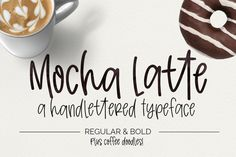 Mocha Latte is a handwritten font that is bursting with ligatures, includes multi-lingual characters, two weights and a set of coffee doodles! This font is Creative Fonts, Cool Fonts, New Fonts, Pretty Fonts, Handwritten Fonts, Script Fonts, Monogram Fonts, Monogram Letters, Coffee Fonts