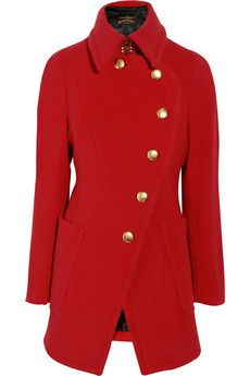 Vivienne Westwood Anglomania Rac wool-blend coat   THE OUTNET