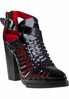Jeffrey Campbell - Brianza Ankle Boot Black Leather