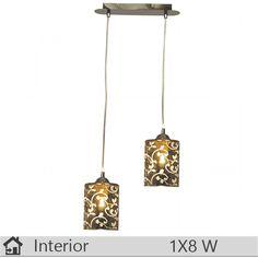 Pendul iluminat decorativ interior Klausen, gama Navy, model SP2 Interior, Luster