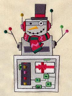 Robot Snowman design (UT3988) from UrbanThreads.com