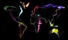 Canvas Wall Art, Wall Art Prints, Canvas Prints, World Map Design, Neon Painting, Thing 1, Artist Canvas, Art World, Peta