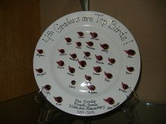 Dickinson Silent Auction - March 2012 - Thumbprint Plates are Now on Display! Classroom Projects, Class Projects, Great Teacher Gifts, Great Gifts, School Auction, Silent Auction, Baby Crafts, Elementary Art, Decorative Plates