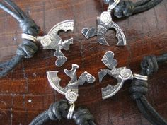 4 Piece  puzzle friendship Quarter coin jewelry