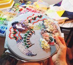 Lorena Marañon embroidery art