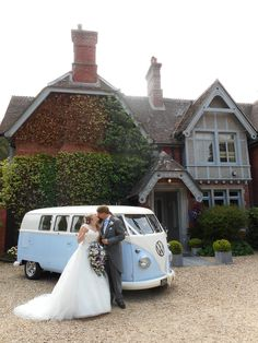 The Old Vicarage is such a superb venue for a wedding! Here's Lulu our 1960 splitscreen taking part in our couple's photographs