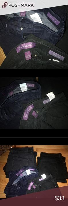 SOLD SEPERATELY- Gloria Vanderbilt Jeans sz14 All fantastic condition, either new or rarely worn. 5 black pair- 1 blue pair. COMMENT WHICH COLOR/HOW MANY! Gloria Vanderbilt Jeans
