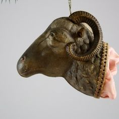 Ram Head Candy Container  (The Christmas ornaments I have been piinning are NOT metal tooled but could be,,,,inspiration)