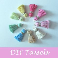 DIY Tiny Tassels Tutorial + How to Make the Crown Nice and Full From the Inside