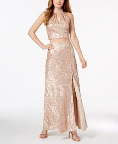 Adrianna Papell 2-Pc. Sequined Mesh Gown 0d0ff1041d64