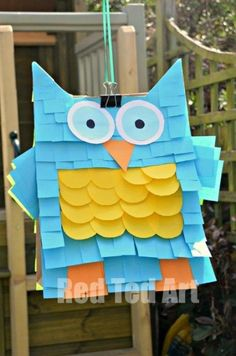 Easy Owl Pinata Craft - check out our monster too - ridiculously easy and fun to make!
