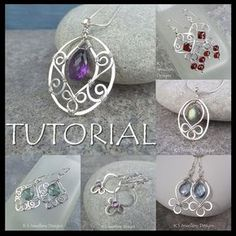 Wire Jewelry Tutorial - BLOSSOM DROPS (Pendant & Earrings) - Step by Step Wire Wrapping Wirework Instructions - Instant Download