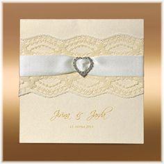 Svadobné oznámenia s čipkou